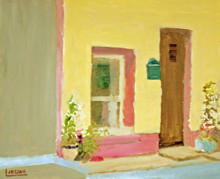 A colourful cottage at Inistiogue, Wexford, Ireland - An original Oil Painting - Image 0