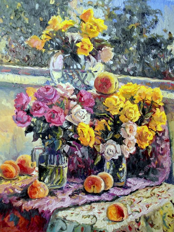 Roses in Summer House - Image 0