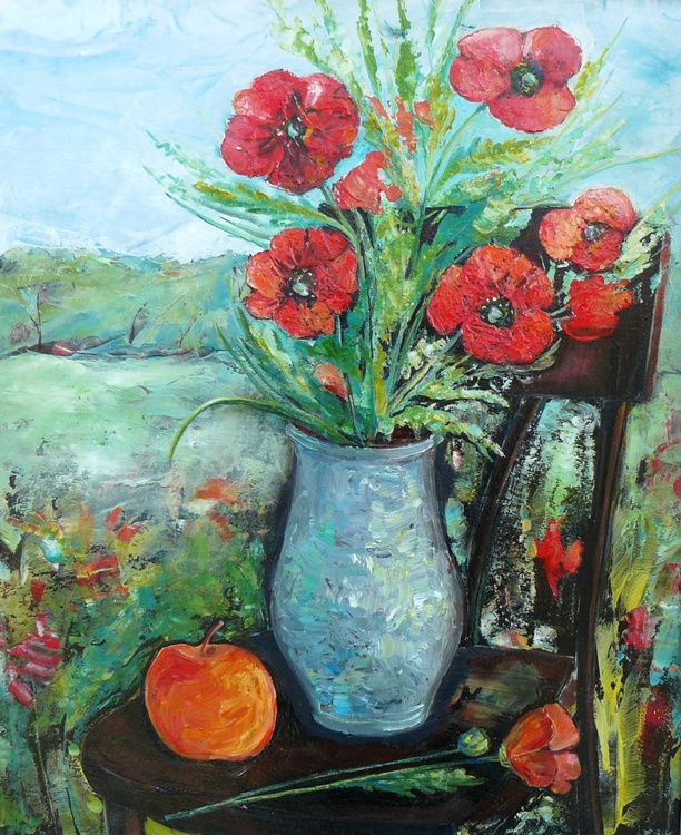 Still life with poppies - Image 0