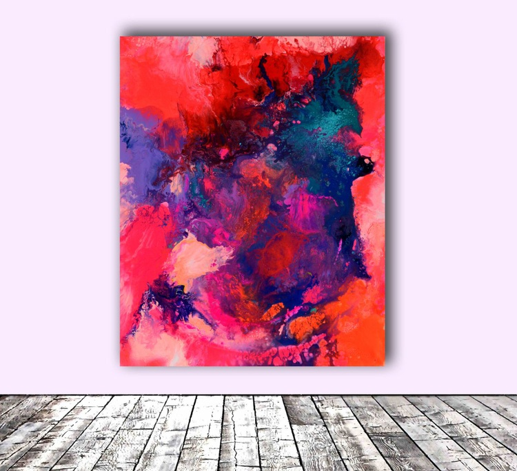 The Energy of Spring, Big Painting - FREE SHIPPING - Large Abstract Painting - Ready to Hang, Hotel and Restaurant Wall Decoration - Image 0