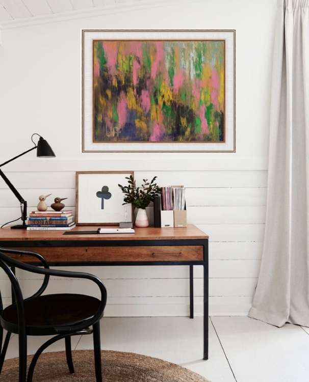 Abstract Summer memories, 60x50 cm, original art, FREE SGIPPING - Image 0