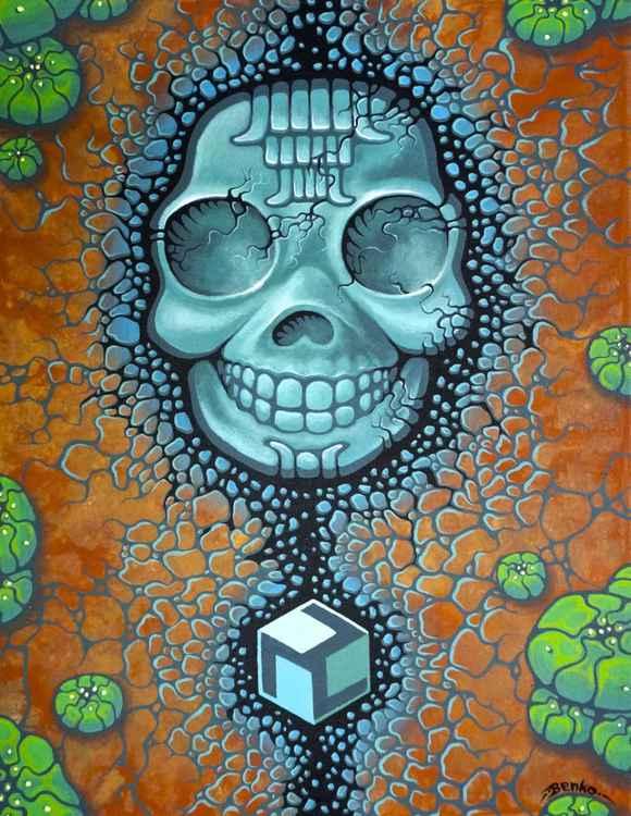 Cana Ixim (Mayan Blue Jade Skull with Healing Properties)