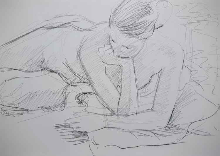 Life Drawing Study No 2 -