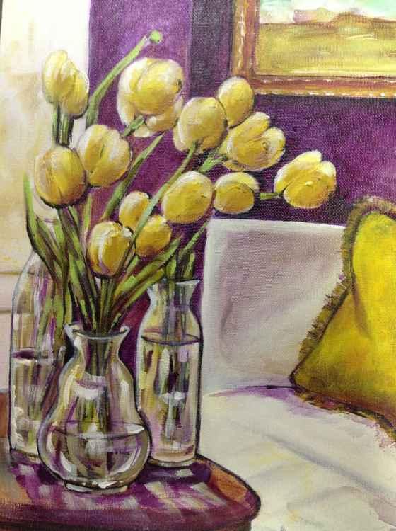 Sunbathing Tulips -