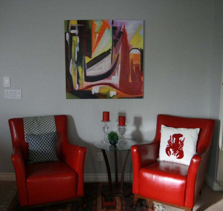 PERFECTLY IMPERFECT - 36X36X.5  LARGE ABSTRACT PAINTING - Image 0
