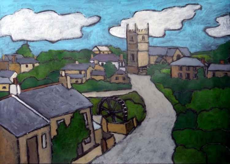Zennor Village. -