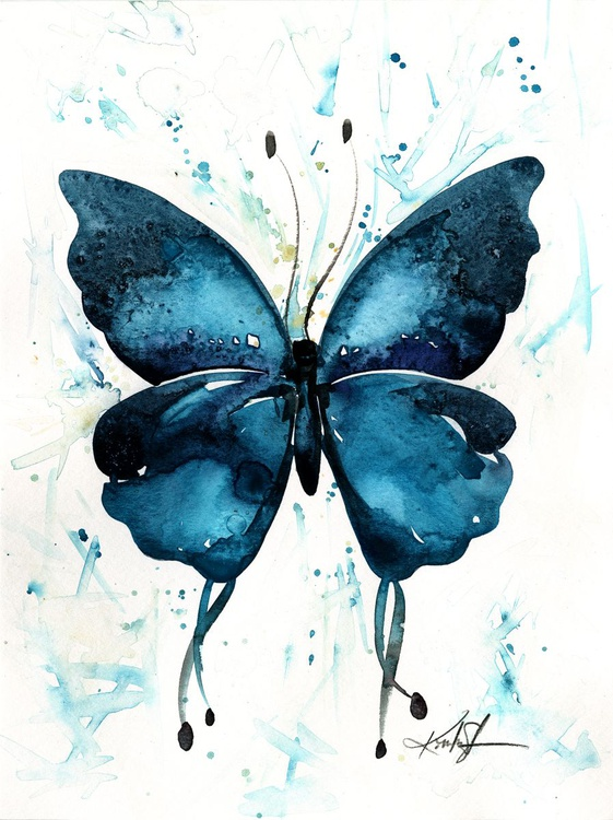 Watercolor Butterfly 7 - Abstract Butterfly Watercolor Painting - Image 0