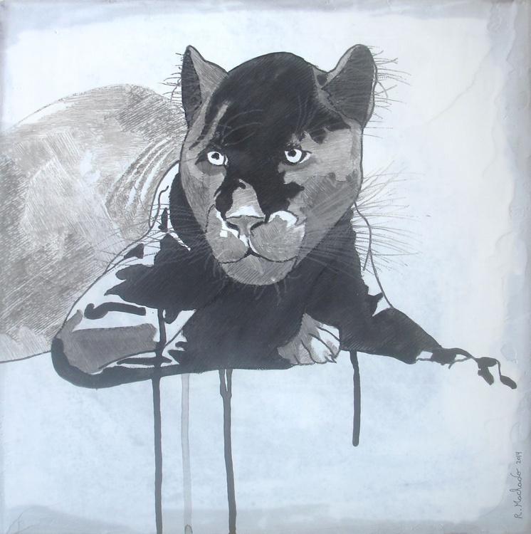 Black Jaguar Carved I - Image 0