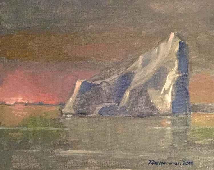 Icebergs at Dusk -