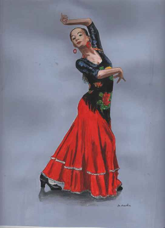 SPANISH DANCER IN RED -