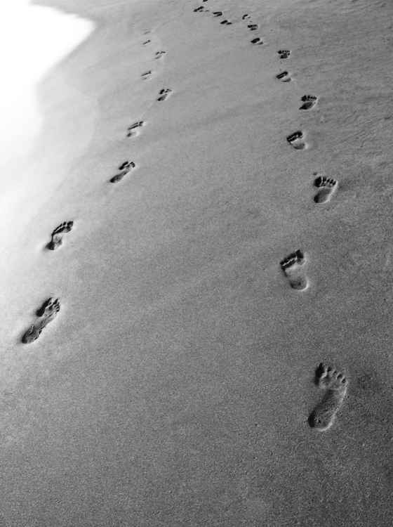 FOOTPRINTS IN THE SAND - GOA -