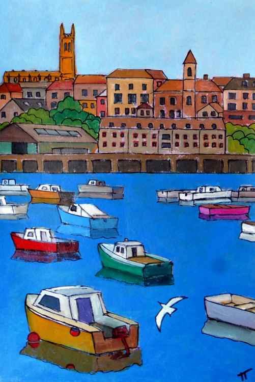 Penzance harbour. -