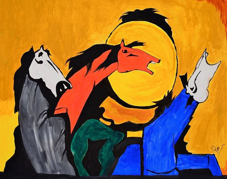 Horse painting - Abstract - Image 0