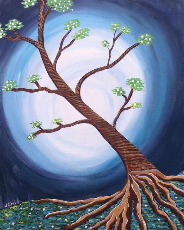 Tree with Blue Moon - Image 0
