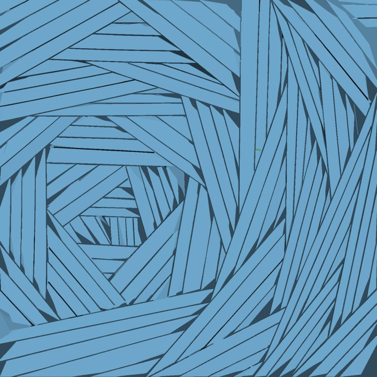 Tangled Lines in Blue - Image 0