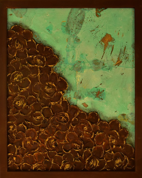 Abstract Rust and Patina Floral - Image 0