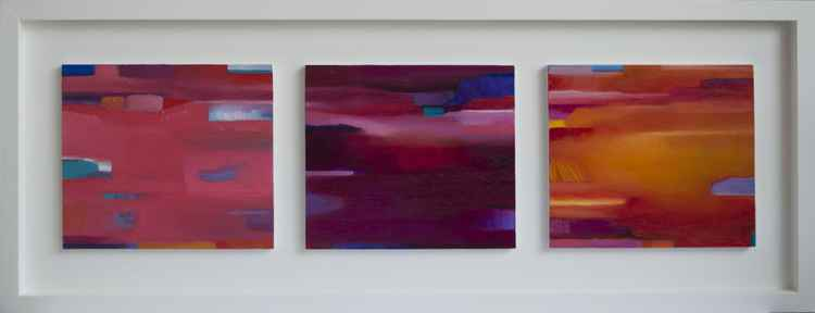 Triptych Abstract Large - Commission for Urbain Bruyere -