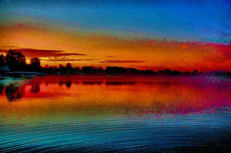 Water Ripple Sunrise