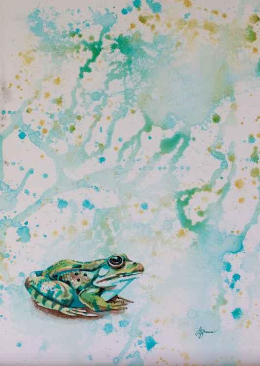 Frog splashes
