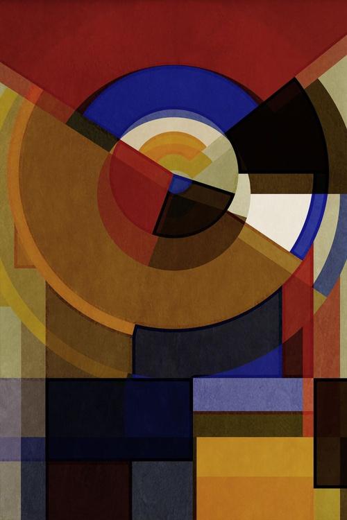 Hertz Van Bauhaus FOUR, Abstract Geometric Art, Limited Edition of 6 - Image 0