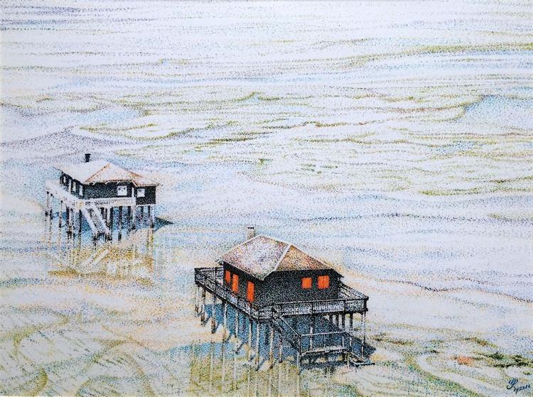 """Cabanes Tchanquées - Sentinelles du Bassin d'Arcachon (""""Cabanes Tchanquées"""" - Sentinels of the Bay of Arcachon) - """"TECHNICOLOR"""" - Image 0"""