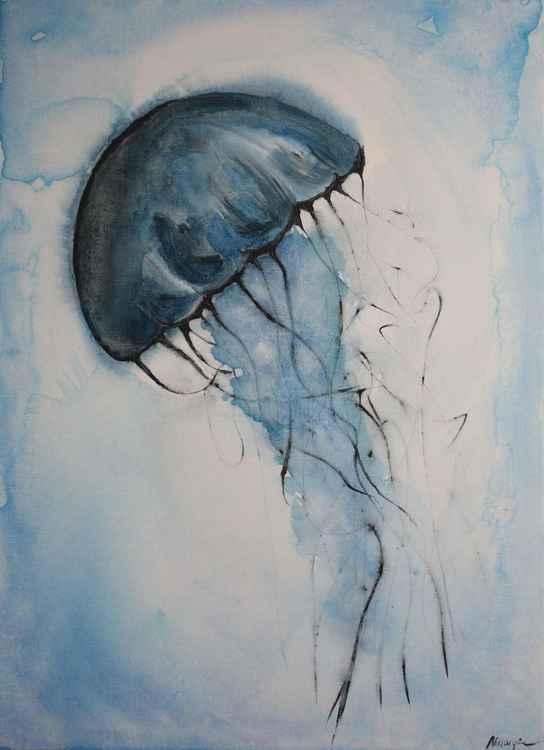 Blue jellyfish -