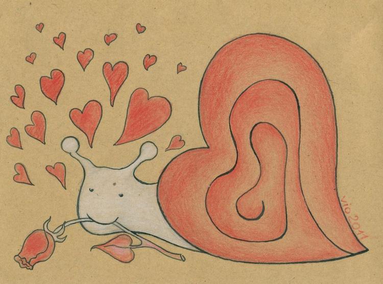 Snail In Love - Image 0