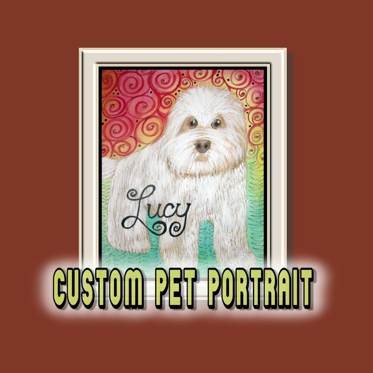 CUSTOM Mixed Media Pet Portrait for PAMELA ADAMS - Image 0