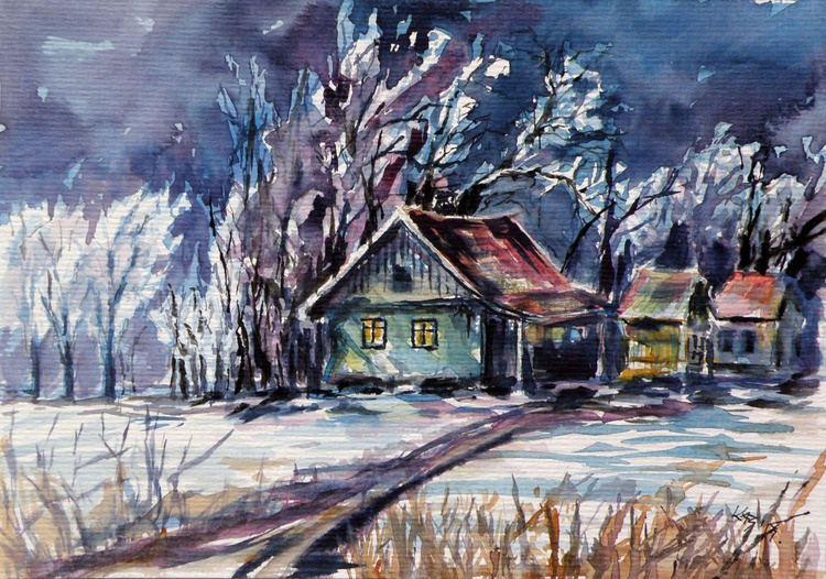 Farm in winter - Image 0