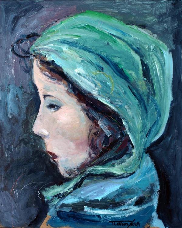 Roxana (head of a woman in profile, study) - Image 0