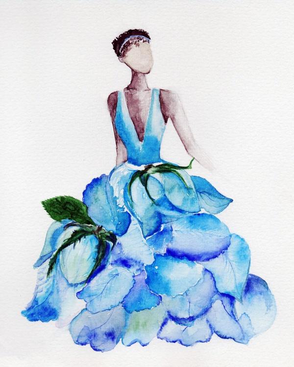 Lady Blue Rose - Image 0