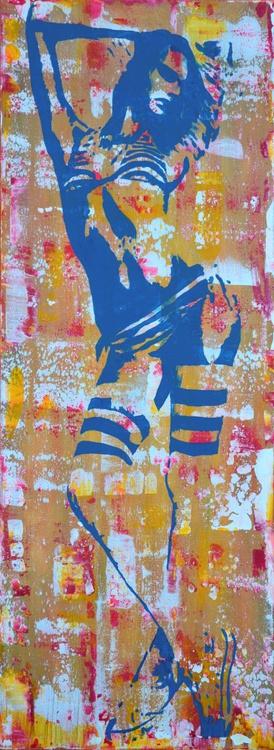 Blue Girl   - Long Deep Edge Canvas Ready To Hang - Image 0