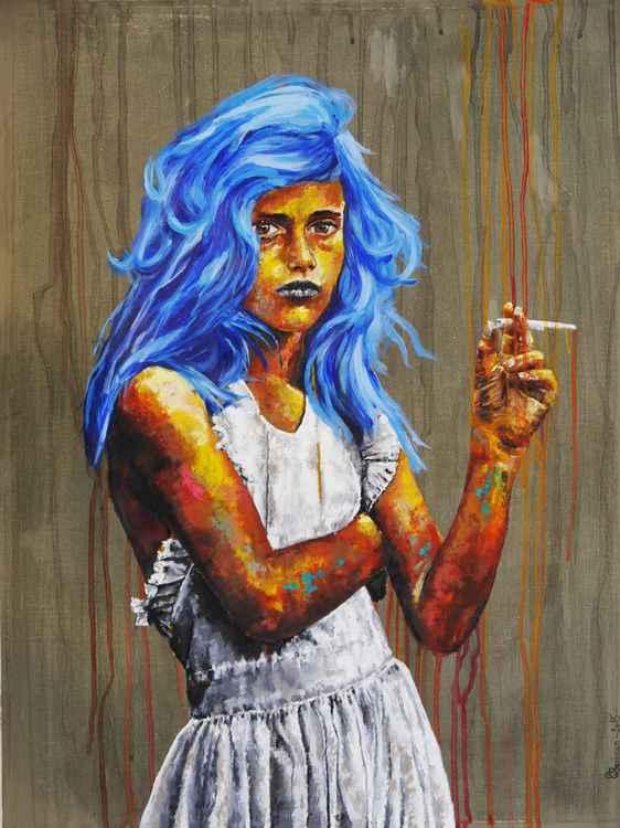 Petite fille à la cigarette -