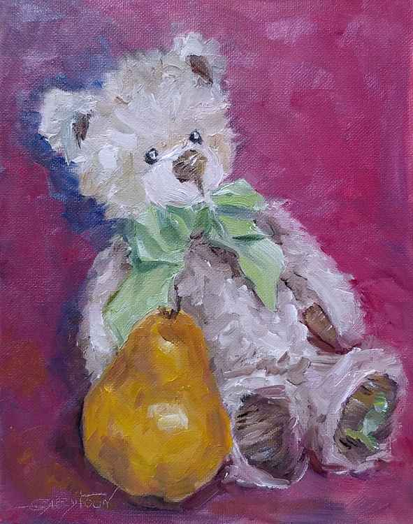 Teddy Bear With A Pear
