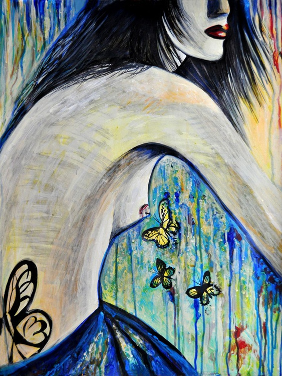 Nude Girl with Butterflies - Image 0