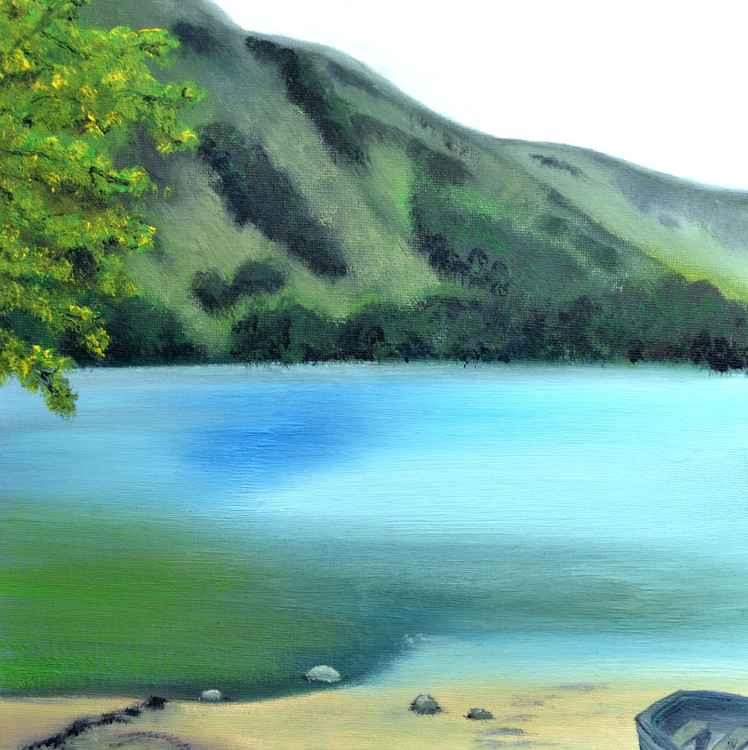Lake District Buttermere Landscape Oil Painting -