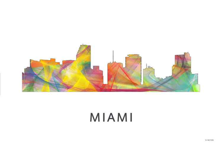 Miami Florida Skyline WB1 -