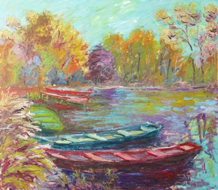 Boats In The Lake - Image 0