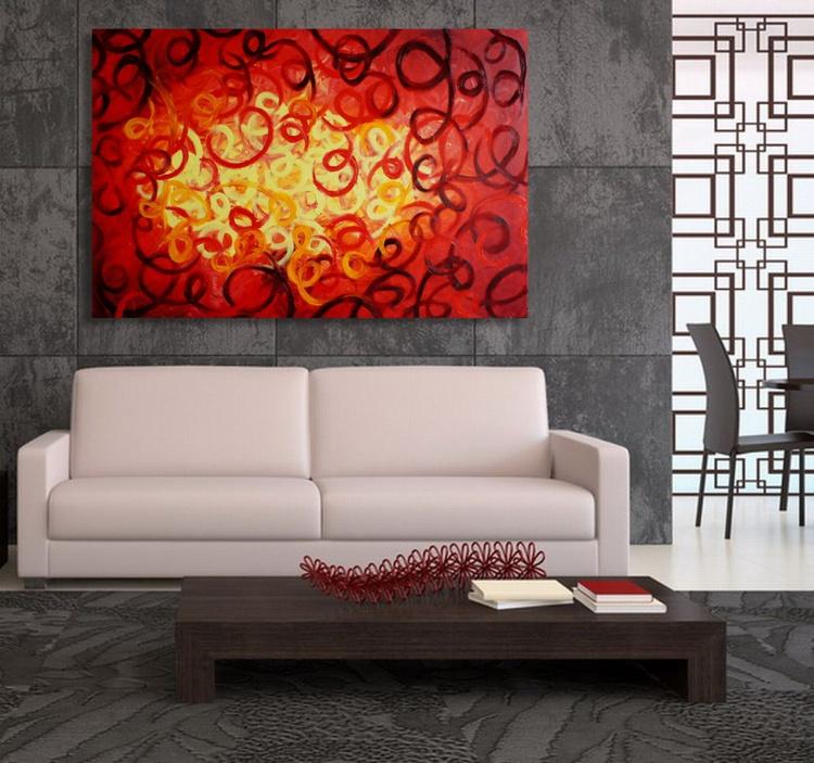 Lava Swirl (120 x 80 cm) - Image 0