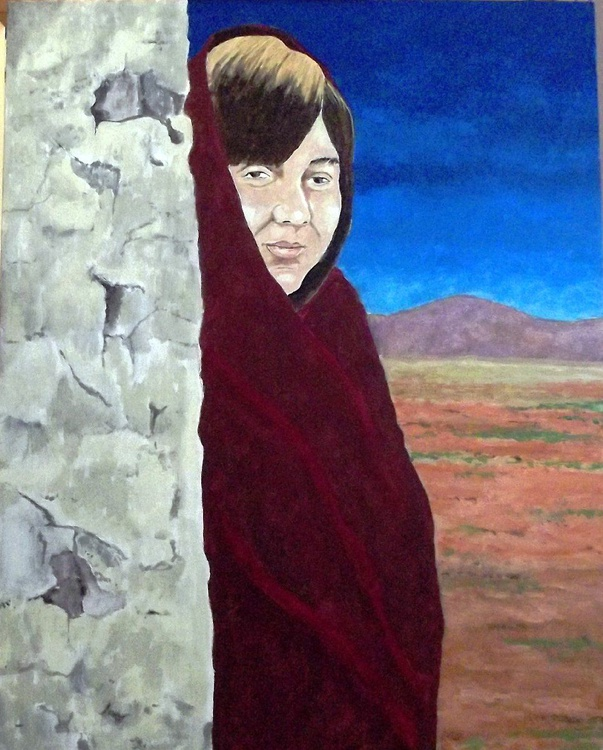 Girl in a Shawl - Image 0
