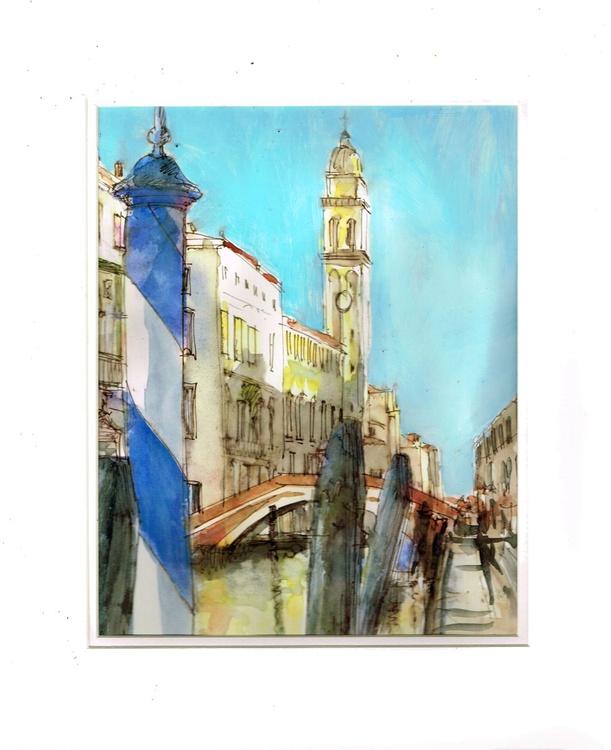 Venice pen and watercolor - Image 0