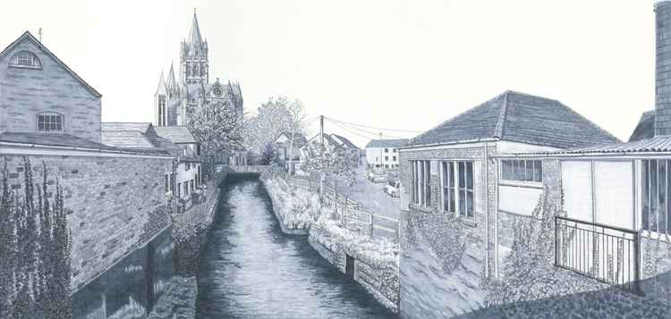 River View of Truro Cathedral, Cornwall -