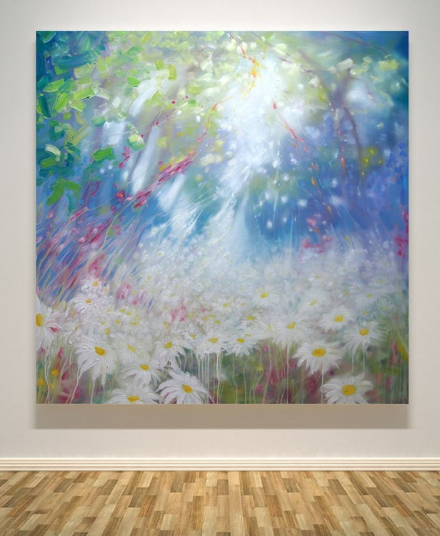 Glorious June - LARGE ORIGINAL Oil Painting about Summer - Image 0