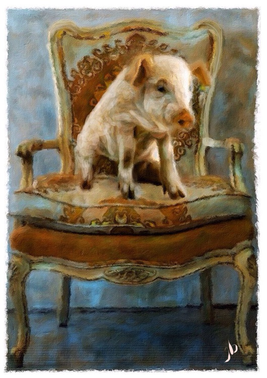 Pig on a Chair - Image 0