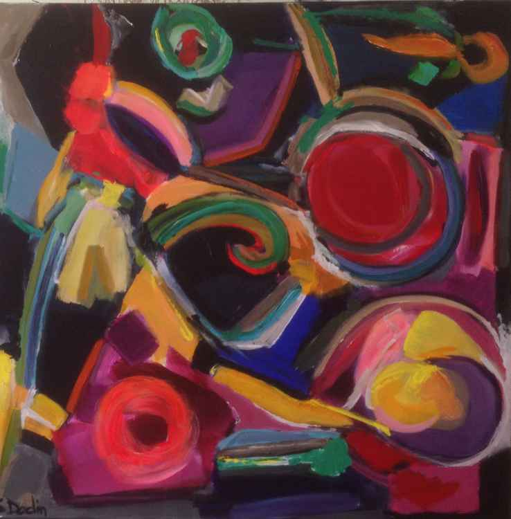 colours  Abstract acrylic 100x100 -