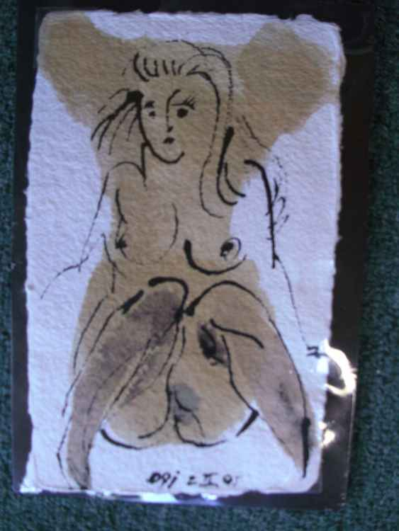 Erotic Female Drawing  3 -