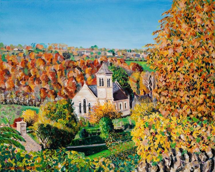 FRAMPTON MANSELL CHURCH IN AUTUMN - Image 0