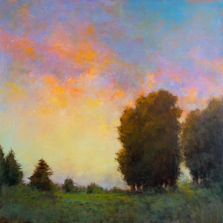 Autumn Sunset, 24x24 inches - Image 0