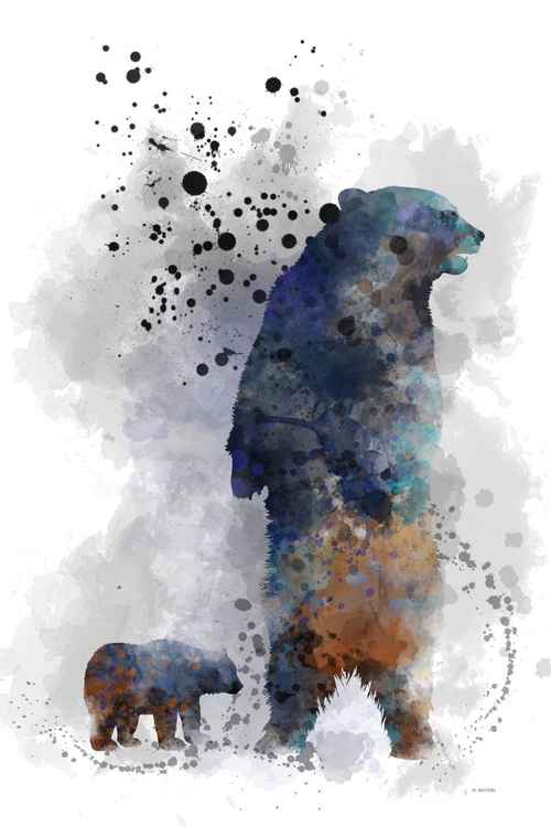 Mother Bear and Cub -