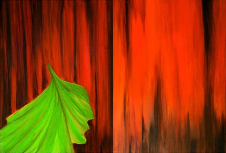 ''a leaf falls''  140 Χ 100cm - Image 0
